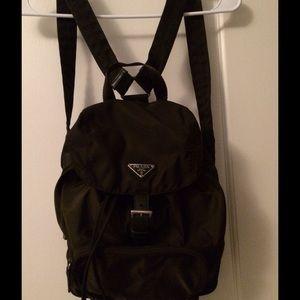 65% off Prada Handbags - Vintage 1990\u0026#39;s Prada Nylon Backpack, army ...