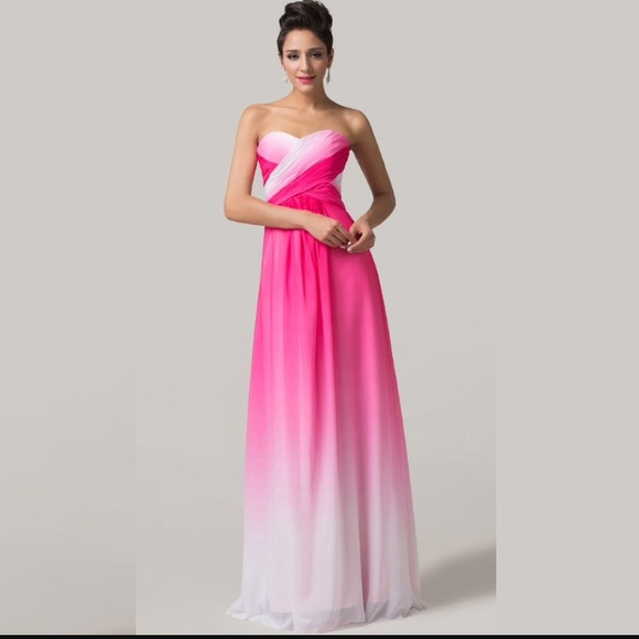 Pink Ombre Prom Dresses