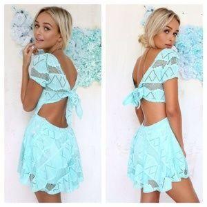 Sabo Skirt Dresses & Skirts - Mint playsuit