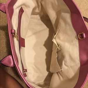 467230025b31d Gucci Bags - Gucci pink leather canvas Heart Bit tote  475 OBO