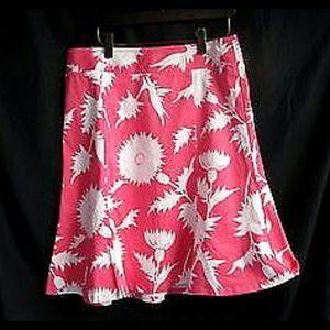 Isaac Mizrahi for Target. Pink Print Skirt