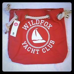 NWT Wildfox Yacht Club beach or book tote