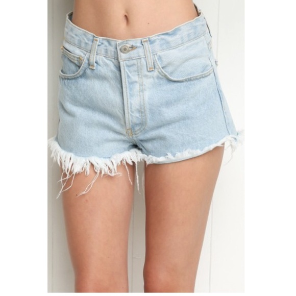30% off Brandy Melville Denim - High rise denim shorts- Brandy ...