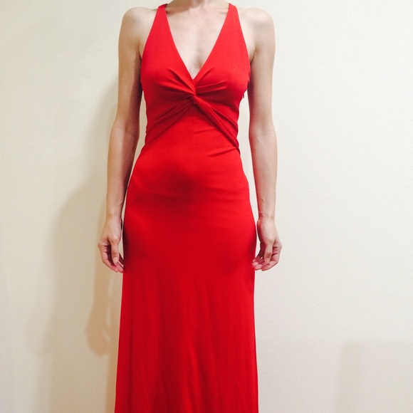 Betsy & Adam evening special occasion red dress