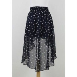 Zara star high-low skirt