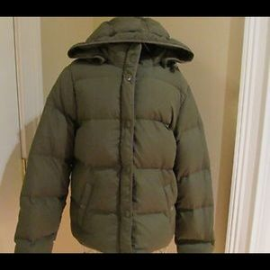 J. Crew down puffer coat
