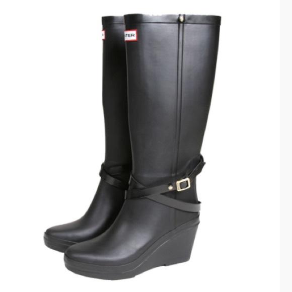 Hunter - Hunter Wedge Rain Boots from ! jordan's closet on Poshmark