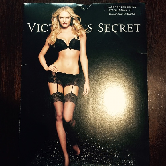 bf99a1d32483b Victoria's Secret Accessories | Victorias Secret Lace Top Stockings ...