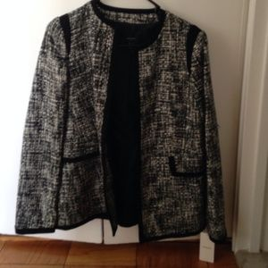 Mango Black and White tweed jacket!