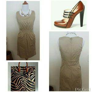 Khaki work dress