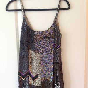 All saints hand beaded and sequin dress