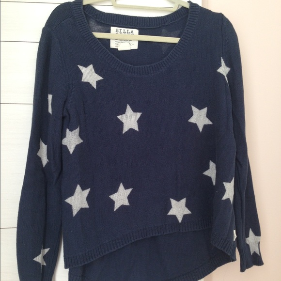 Billabong Navy Sweater with White Stars Size M