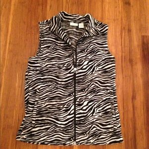 Kim Rogers Tops - Zebra Fleece Vest
