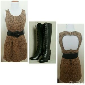 60's Inspired Leopard print dress