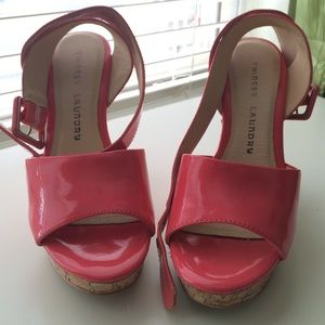 Chinese Laundry Shoes - Neon pink strappy sandals