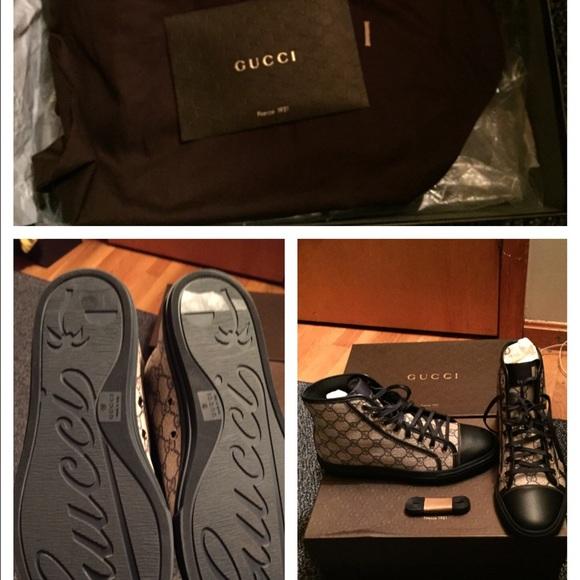 gucci supreme high top black