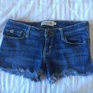 Abercrombie Kids Stretch Denim Cut Off Shorts