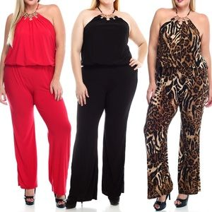 Other - Plus size jumpsuit with goldhardware