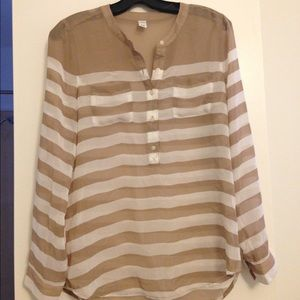 Cream and tan old navy blouse