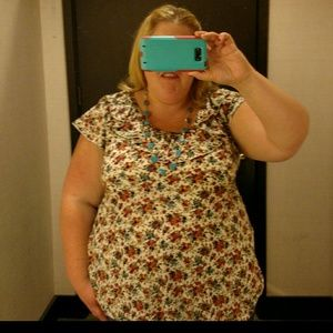 Dress Barn Tops - Floral plus size top