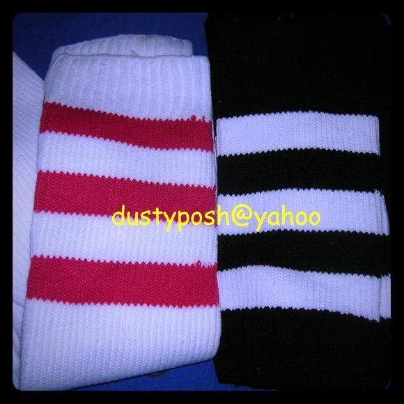 37c4747a9 American Apparel Thigh High Socks 4 Pair Pink Wht