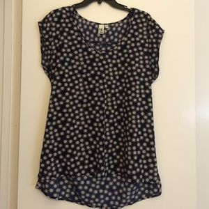 14th & Union Tops - SALE Navy with gray dots tunic