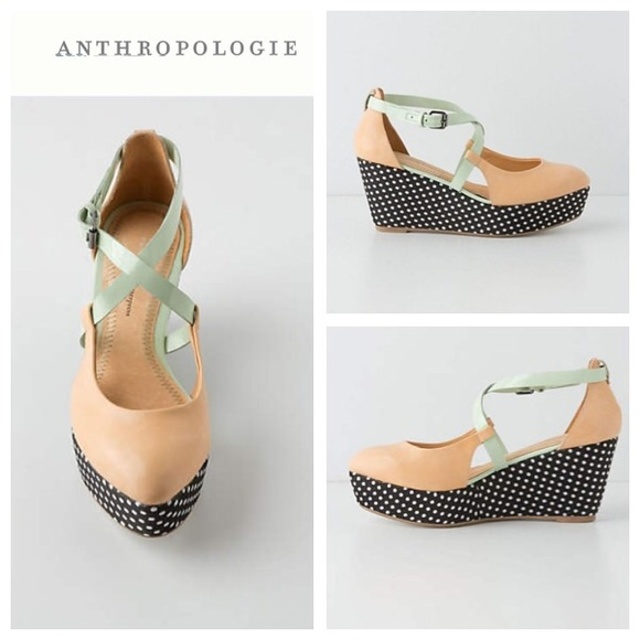 e111c0a9846 Anthropologie Pilcro Dotted Heights Wedges
