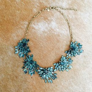 J. Crew Jade Crystal Statement Necklace
