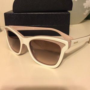 9882c20c717 ... discount prada accessories prada spr 16p sunglasses ivory brown f0090  a6c43 ...