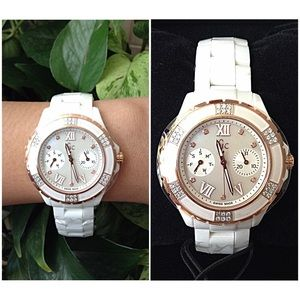 70 off gc swiss made accessories authentic gc diamond white ceramic ladieswatch from karen - Find porcelain accessory authentic ...