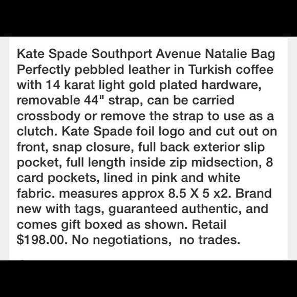 kate spade Bags - Kate Spade Southport Ave Natalie Bag Purse NWT