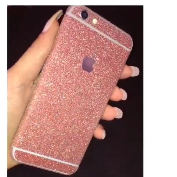 rose gold glitter iphone 6 case