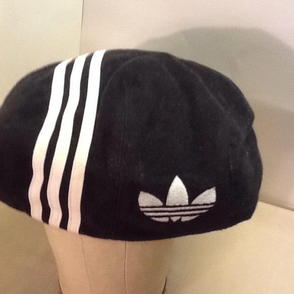 2aa365a4785 Adidas Accessories - Vintage Adidas hat cap beanie size M L black   Wht