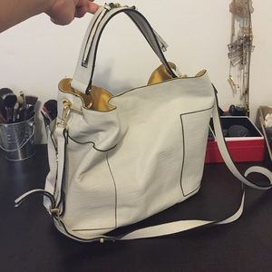 Zara Handbags - Zara handbag - white, gold, and yellow interior