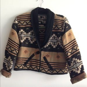 Cropped Navajo style jacket