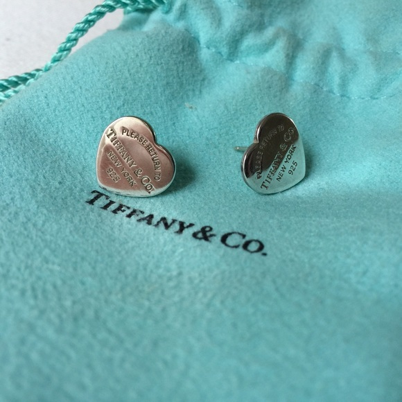 5d52659d3 Tiffany & Co. Jewelry | Tiffany Co Mini Heart Tag Earrings | Poshmark