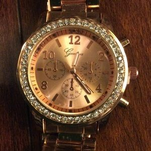 Geneva rose colored watch