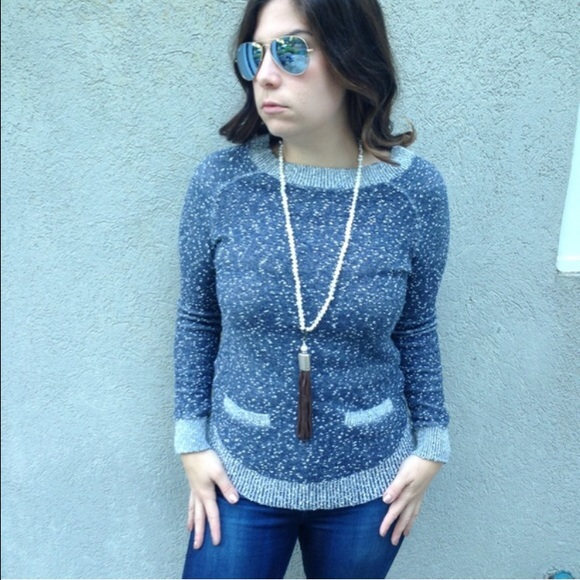 LOFT - [Lou & Grey] Blue Marled Sweater Medium from Jenna's closet ...