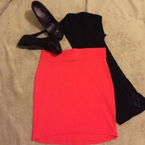 Stretch Mini Skirt - Neon Pink