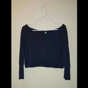 Tops - Navy Blue cropped T-shirt