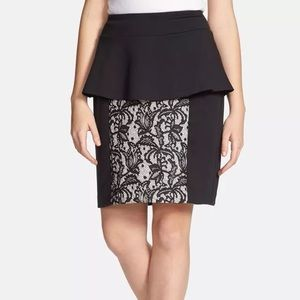 Kensie Dresses & Skirts - Brand New With Tags kensie Lace Panel Peplum Skirt