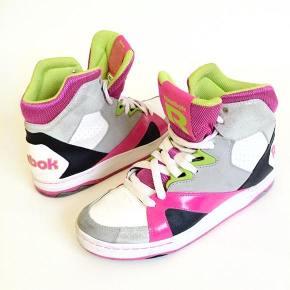 1a9c3453638 Reebok Femme Devil High Top Dance Sneakers 7.5. M 55f6356db5643e12d9016796