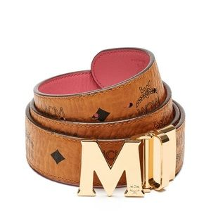 MCM Accessories - MCM Reversible Pink Logo Belt O/S 100% Authentic!