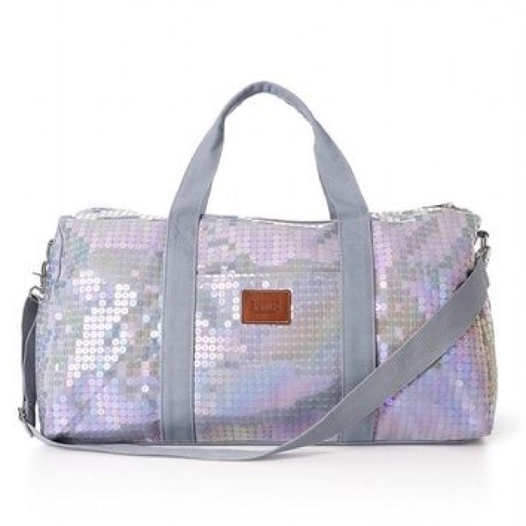 691e752540cd Victoria s Secret PINK sequin duffle bag. M 55f640fb78b31cf204017261