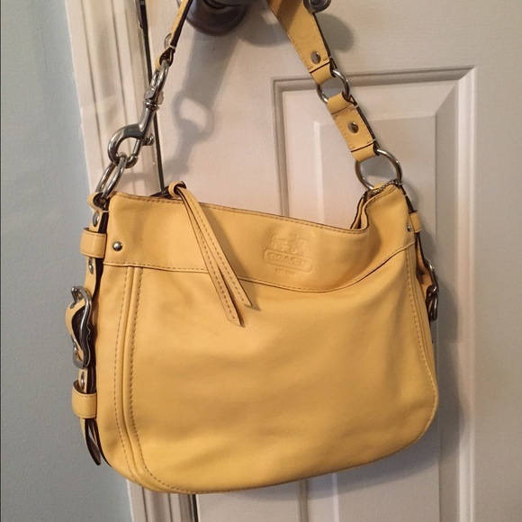 978d62cde9 Coach Handbags - COACH butter yellow leather purse 100% authentic!
