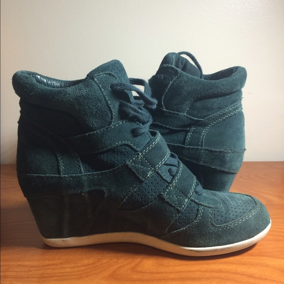 fa5d610d4607 Ash Shoes - Size 40 ASH Limited dark Teal suede sneaker wedgeS