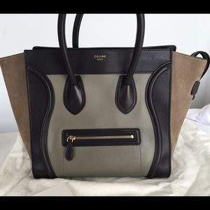 Celine Handbags - 100% authentic Celine bicolor mini luggage handbag