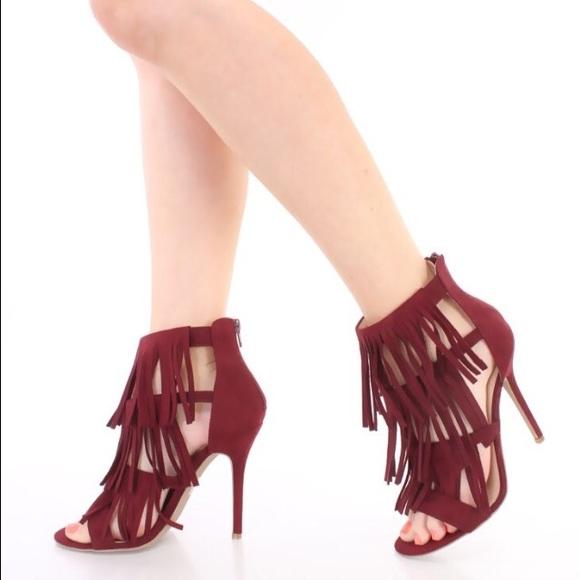 bacbc6380ad Fringe Caged Stiletto Heel. Low Price. M 55f6955778b31c3a3401809b