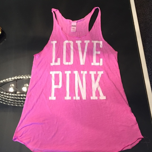 67% off PINK Victoria's Secret Tops - VS PINK Muscle Shirt and ...