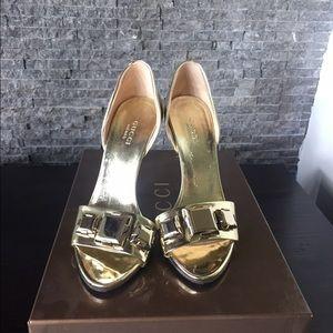 Gucci Shoes - Gold Gucci D'orsay Sandal